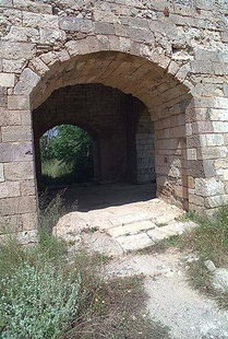 A door of Agios Lukas Bastion in the Fortezza, Rethimnon