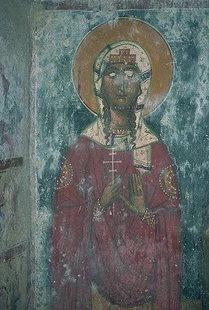 Un affresco della chiesa di Agios Ioannis ad Axos