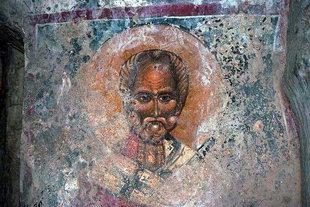 Un affresco nella chiesa di Agios Ioannis ad Axos