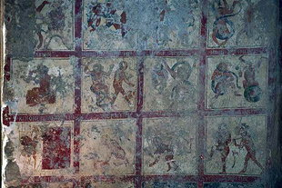 A fresco depicting hell, in Agios Ioannis Church in Axos