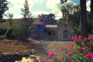 Die byzantinische Agios Fanourios-Kirche in Katharida