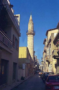 The Ahmet Aga Minaret in Chania