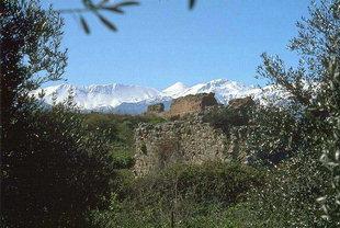 Ρωμαϊκά ερείπια στην  Άπτερα
