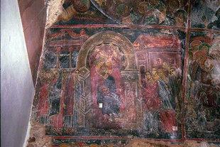 Une fresque dans l'église de l'Evangelismos à Evangelismos