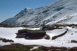 Un Mitata, caseificio, nell'Altipiano di Nida