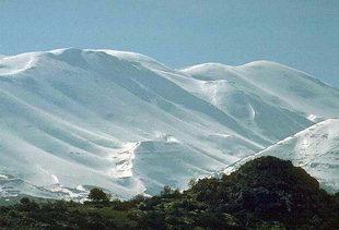 Il Monte Psiloritis in inverno
