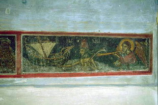 A fresco in Agios Ioannis Theologos Church in Margarites