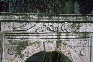 Details of a portal in Margarites