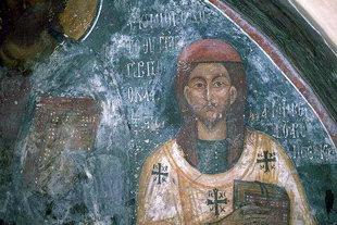 Une fresque dans l'église de la Metamorphosis de Sotiras à Margarites