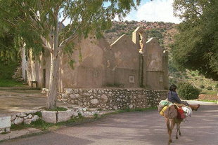 Agios Ioannis, the triple-aisled church from the second Byzantine period, Kroustas