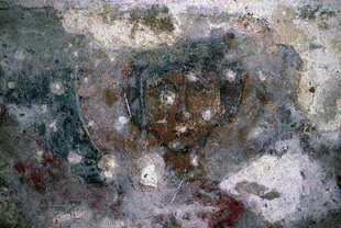 A fresco in the ruins of Sotiras Christos Church, Mikri Episkopi