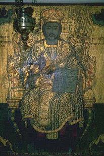 A icon in Agia Anna and Agios Nikolaos Church, Drapeti