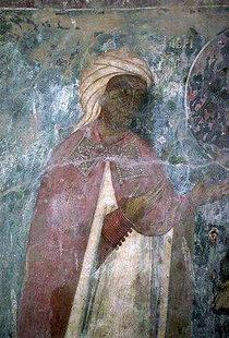 The donor fresco of Agia Anna and Agios Nikolaos Church, Drapeti