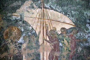 A fresco in Agia Anna and Agios Nikolaos Church, Drapeti