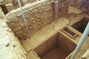 Coffres dans la Salle du Dépôt du Temple, Knossos