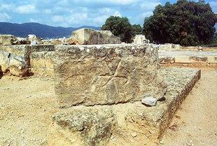 Symbols evident on the blocks, Malia
