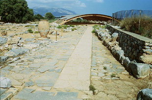 The Minoan road at the North Entrance, Malia