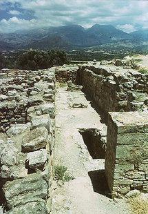 The corridor of the West Wing, Agia Triada