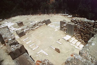 The large reception hall of the West Wing, Agia Triada