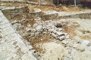 The remains of the Middle Minoan houses, Agia Triada