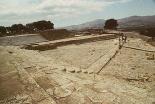 The West Court and the Theatre Area, Festos