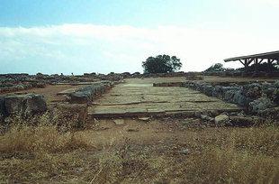 The ancient Main Entrance to the palace, Malia