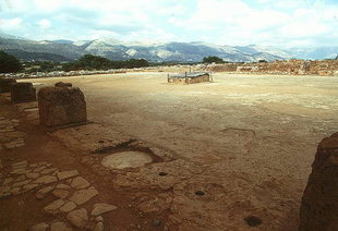 The Central Court from the northeast corner, Malia