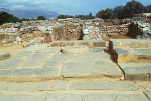 The terrace and the Kernos, Malia