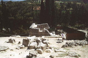 La Casa Meridionale vista dal Corridoio delle Processioni, Knossos