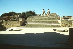 Die südliche Propylaeaund die Schautreppe, Knossos