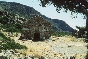 Agios Kirikos Church near the beach in Lissos