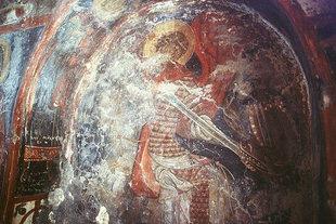 Une fresque dans l'église de la Panagia à Lissos
