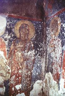 Un affresco della chiesa di Panagìa a Lissòs