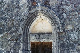 Das Portal der Panagia-Kirche in Thronos