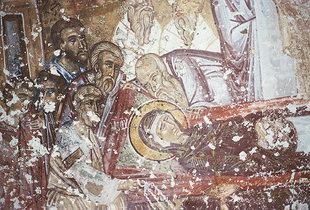The Dormition of the Virgin in Agii Apostoli Church, Petrohori