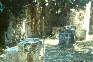 The ruins of the Panagia Church in Patsos