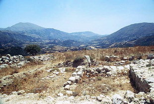 Il sito dell'antica Sivritos sopra Thronos