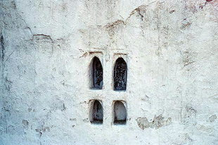 A window in Michael Archangelos Church, Meskla