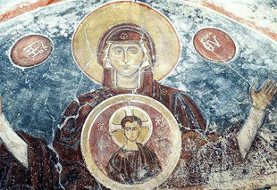 A fresco in Agios Georgios Church, Vathi