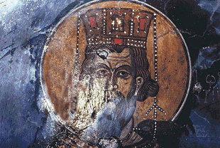 Un affresco della chiesa di Michael Archangelos, Vathì
