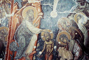 Un affresco in Michael Archangelos Church, Vathì