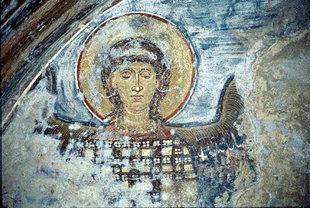 Une fresque dans l'église d'Agios Georgios, Vathi