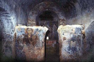 The stone altar screen of  Michael Archangelos, Sarakina