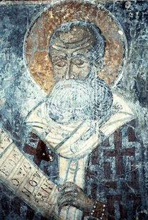 A fresco in Agia Anna Church, Anisaraki