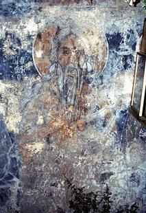 A fresco in Agia Paraskevi Church, Hondros
