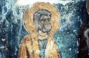 A well-preserved fresco in Agia Paraskevi Church, Voutas