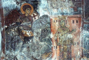 A fresco in Agios Georgios Church, Anidri