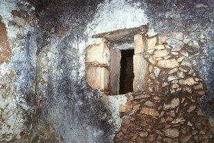 Die Ruinen der Agios Georgios-Kirche in Pervolia