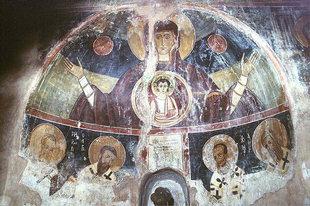 Une fresque dans l'église d'Agios Georgios, Sklavopoula