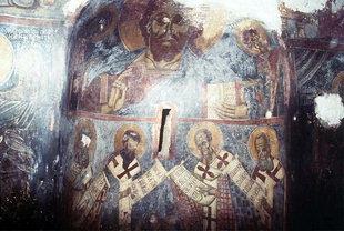 Une fresque du XIII siècle de Pagomenos, église d'Agios Georgios, Anidri